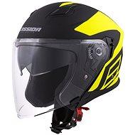 CASSIDA Jet Tech Corso, (černá matná/žlutá fluo) - Helma na motorku