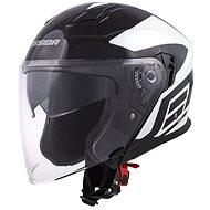 CASSIDA Jet Tech Corso, (černá/bílá) - Helma na motorku