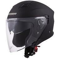 CASSIDA Jet Tech, (černá matná/fialová loga) - Helma na motorku