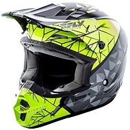 FLY RACING Kinetic CRUX (Hi-Viz/šedá/černá, vel. M) - Helma na motorku