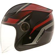 CASSIDA Reflex (černá/červená/šedá, vel. M) - Helma na skútr