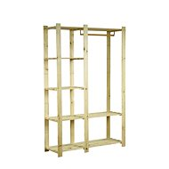N5K Group Wardrobe 1700 x 1100 x 360mm, Natural - Shelf