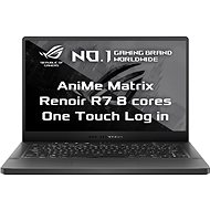 Asus ROG Zephyrus G14 GA401IU-AniMe103T Eclipse Gray s AniMe Matrix version kovový - Herní notebook
