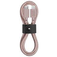 Native Union Belt Cable C-L Lightning 1.2m, rose - Datový kabel
