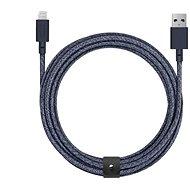 Datový kabel Native Union Belt Cable XL Lightning 3m, indigo