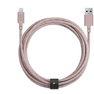 Native Union Belt Cable XL Lightning 3m, rose - Datový kabel