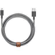 Native Union Belt Cable XL Lightning 3m, zebra - Datový kabel