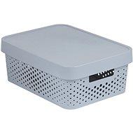Úložný box Curver INFINITY DOTS box 11L - šedý