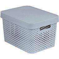 Úložný box Curver INFINITY DOTS box 17L - šedý