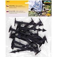 Kolík kotvící černý plastový 15ks 12cm - Kolík