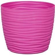 Obal na květník SAHARA PRIMULE plast fialovo růžový d11x9cm