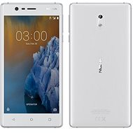 Nokia 3 White Silver Dual SIM - Mobilní telefon