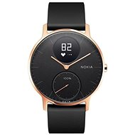 Nokia Steel HR (36mm) Rose Gold/Black Silicone wristband - Chytré hodinky