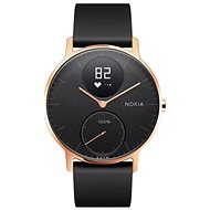 Nokia Steel HR (36mm) Rose Gold/Black Leather/Black Silicone wristband