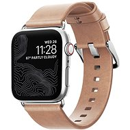 Nomad Leather Strap Modern Natural Silver Apple Watch 40/38mm