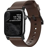 Nomad Leather Strap Modern Brown Black Hardware Apple Watch 40/38mm