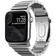 Nomad Titanium Band Silver Apple Watch 44/42mm - Řemínek