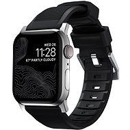 Nomad Rugged Strap Black/Silver Apple Watch 6/SE/5/4/3/2/1 40/38mm - Řemínek