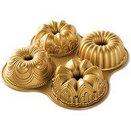 Nordic Ware Čtveřice mini bábovek 4ks zlatá