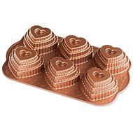 Nordic Ware Vrstvené srdíčko plát se 6 formičkami měděná - Pečící forma