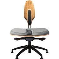 NESEDA Premium s dubovou opěrkou, sivá - Kancelářská židle