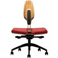 NESEDA Premium s dubovou opěrkou, červená - Kancelářská židle