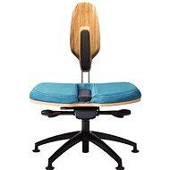 NESEDA Premium s dubovou opěrkou, tyrkysová - Kancelářská židle