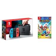 Nintendo Switch - Neon + Mario & Rabbids - Herní konzole