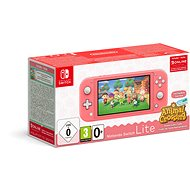 Nintendo Switch Lite - Coral + Animal Crossing + 3M NSO - Herní konzole
