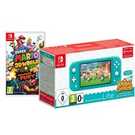 Nintendo Switch Lite - Turquoise + Animal Crossing + 3M NSO + Super Mario 3D World