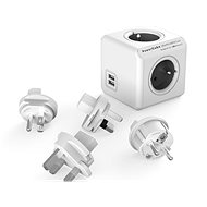 PowerCube Rewirable USB + Travel Plugs šedá - Adaptér