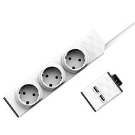 Allocacoc PowerStrip Modular Switch Set 1.5m + USB Module