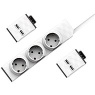 Allocacoc PowerStrip Modular Switch Set 1.5m + 2x USB Module