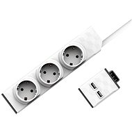 Set PowerStrip Modular 3m cable + USB modul  - Adaptér