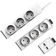 Allocacoc PowerStrip Modular Switch 1,5m + Modul Strip + 1x USB modul - Zásuvka