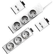 Allocacoc PowerStrip Modular Switch 1,5m + Modul Strip + 2x USB modul - Zásuvka