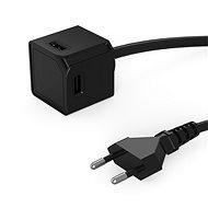PowerCube USBcube Extended 4xUSB-A Black - Zásuvka