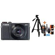 Canon PowerShot G9 X Mark II černý + Rollei Foto Starter Kit 2 - Digitální fotoaparát