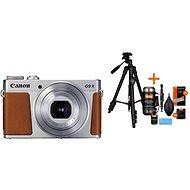 Canon PowerShot G9 X Mark II stříbrný + Rollei Foto Starter Kit 2 - Digitální fotoaparát