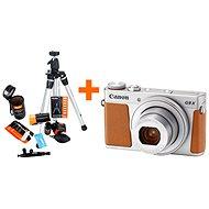 Canon PowerShot G9 X Mark II stříbrný + Rollei Starter Kit - Digitální fotoaparát