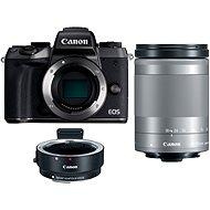 Canon EOS M5 + 18-150mm IS STM stříbrný + adaptér EF-EOS M - Digitální fotoaparát