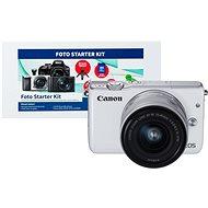 Canon EOS M10 White + EF-M 15-45mm F3.5 - 6.3 IS STM + Alza Foto Starter Kit - Digitální fotoaparát
