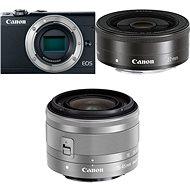 Canon EOS M100 černý + M15-45mm stříbrný + M 22mm - Digitální fotoaparát