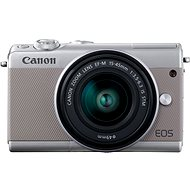 Canon EOS M100 šedý + M15-45mm stříbrný + IRISTA - Digitální fotoaparát