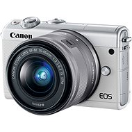 Canon EOS M100 bílý + M15-45mm stříbrný - Digitální fotoaparát
