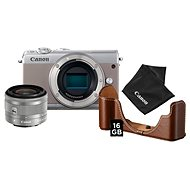 Canon EOS M100 šedý + EF-M 15-45 mm IS STM stříbrný Value Up Kit