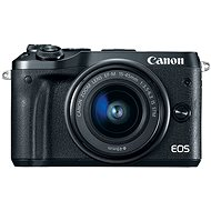 Canon EOS M6 černý + EF-M 15-45mm + 55-200mm - Digitální fotoaparát