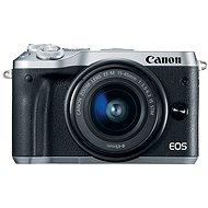 Canon EOS M6 stříbrný + EF-M 15-45mm + 55-200mm - Digitální fotoaparát