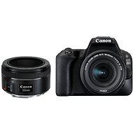 Canon EOS 200D černý + 18-55 mm IS STM + 50 mm f/1,8 STM - Digitální fotoaparát