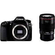 Canon EOS 80D tělo + EF 100mm F2.8 IS USM Macro - Digitální fotoaparát